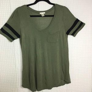 BOZZOLO | Short Sleeve V-Neck Rayon T-shirt